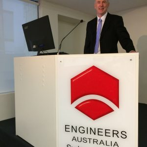 Michael Larkin Speaks at Engineers Australia