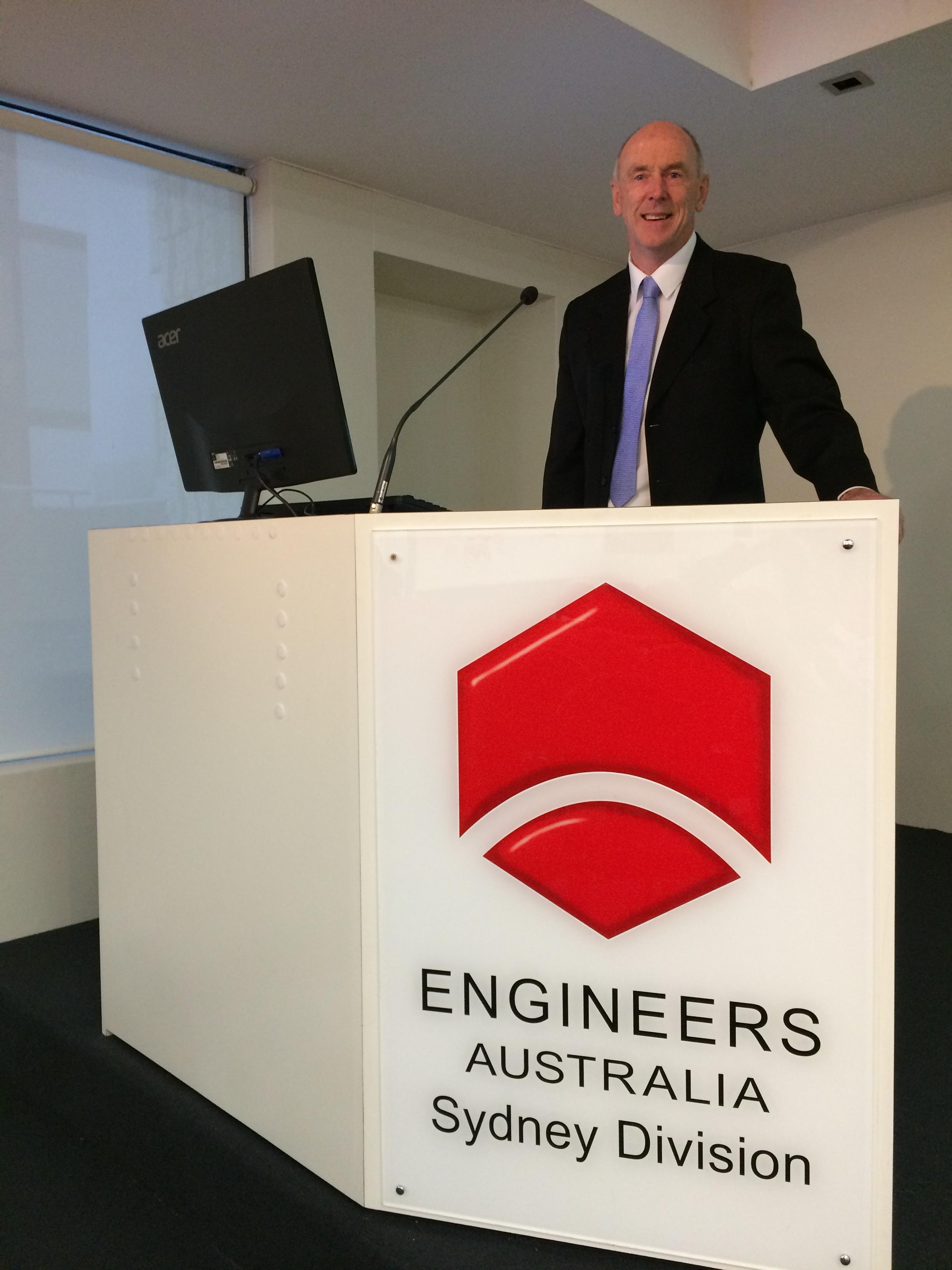 Michael Larkin Speaks at Engineers Australia