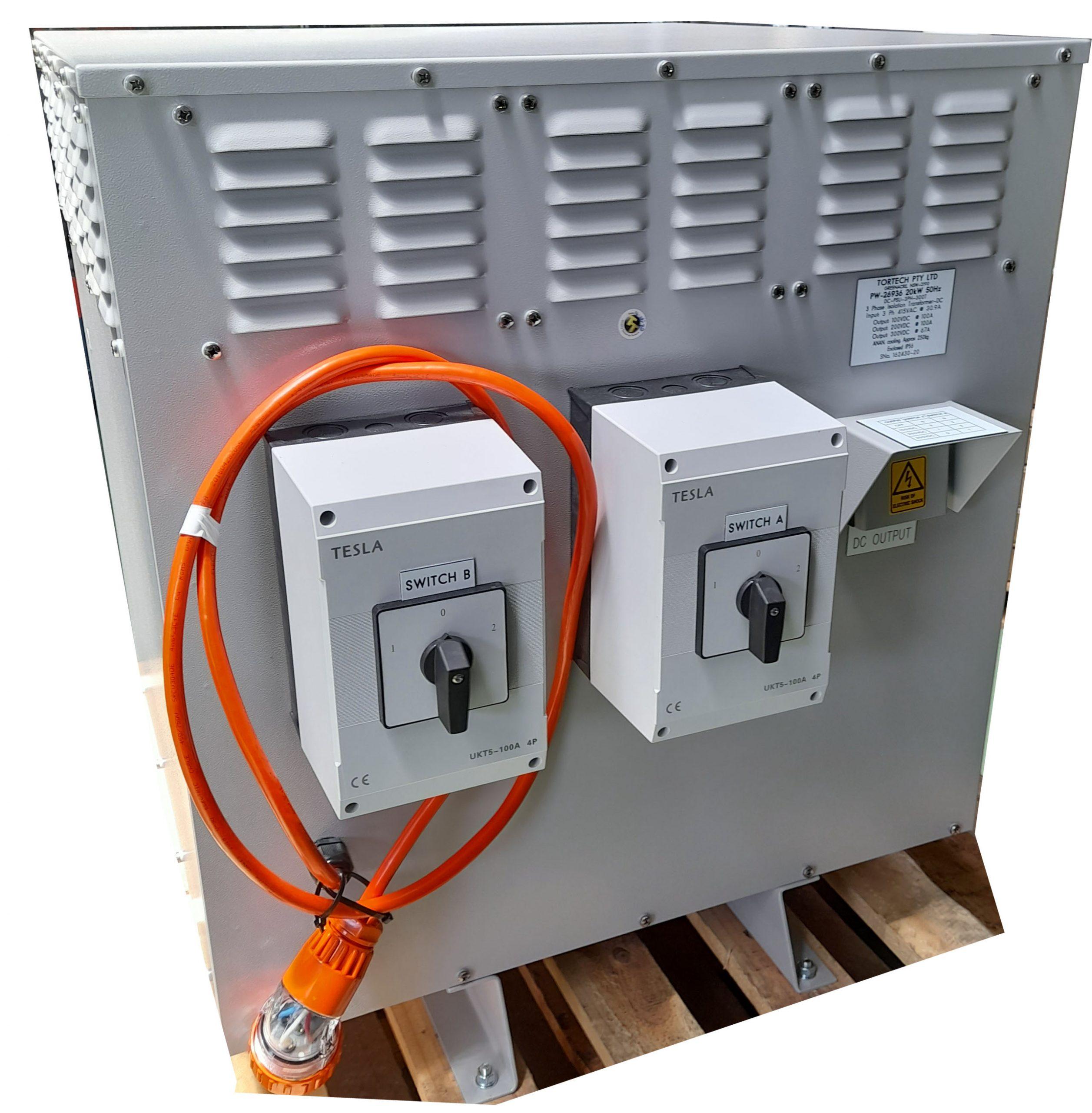 20kw DC Output 100v – 200-300v DC Power Supply