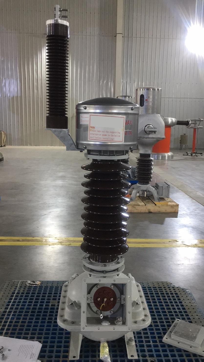 Testing a 27.5kV Voltage Transformer